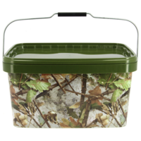 NGT 12.5 Liter NGT Square Camo Bucket with Metal Handle