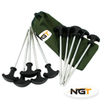 NGT Pack of Bivvy Pegs in Case