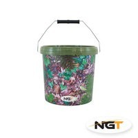 NGT Camo Bucket with Metal Handle