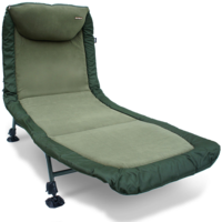 NGT Classic Bedchair with Recliner Micro Fleece Fabric