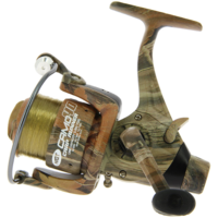NGT Camo40 3BB 'Carp Runner' Reel With 12lb Line + Spare Spool