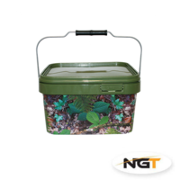 NGT - 5 Litre Square Camo Bucket with Metal Handle
