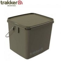 Trakker 17 Liter Olive Square Bucket Container with Lid