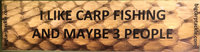 """I like Carp Fishing"" Bumper stickers"