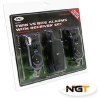 NGT 2pc + Transmitter WireLess Alarm Set - Black - VS