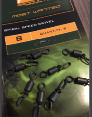 PB - Spiral Speed Swivel #8  Qty.10